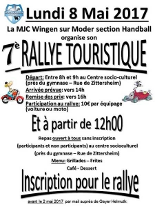 7è Rallye touristique de la MJC section Handball
