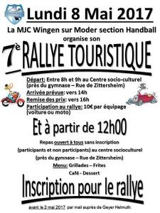 7è Rallye touristique de la MJC section Handball