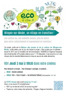 Wingen sur Moder, un village en transition !