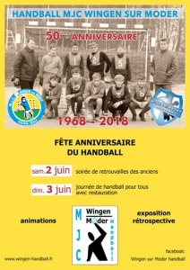 50è anniversaire de la section Handball